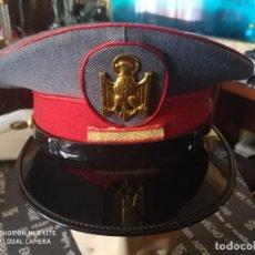 Militaria: GORRA PLATO POLICIA ARMADA GRISES CON INSIGNIA DISTINTIVO PLACA AGUILA METAL CON GALON CABO PRIMERA. Lote 194403897