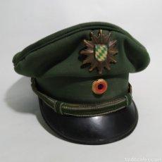 Militaria: GORRA DE PLATO DE POLICÍA DE BAVIERA, ALEMANIA, AÑOS 80 Y 90. Lote 194491393