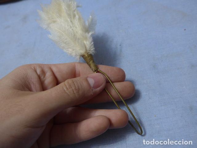 Militaria: * Antiguo plumero blanco de ros español, original. ZX - Foto 3 - 194537416