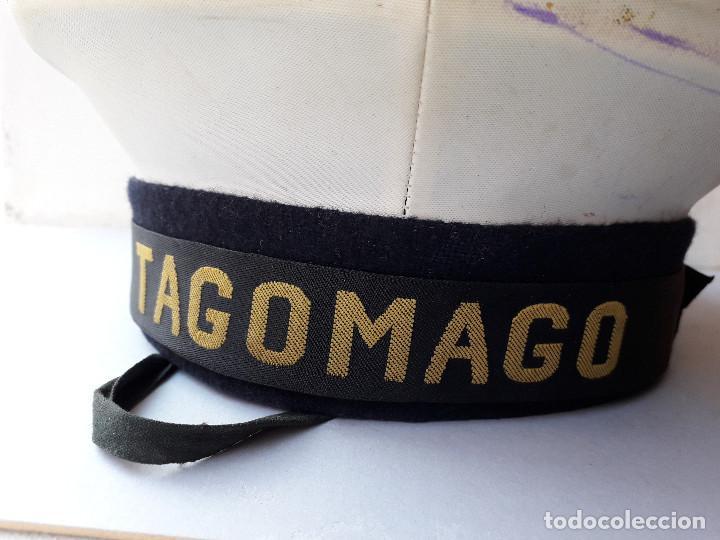 Militaria: gorra de plato naval / marina con cinta lepanto Tagomago - Foto 3 - 194552597