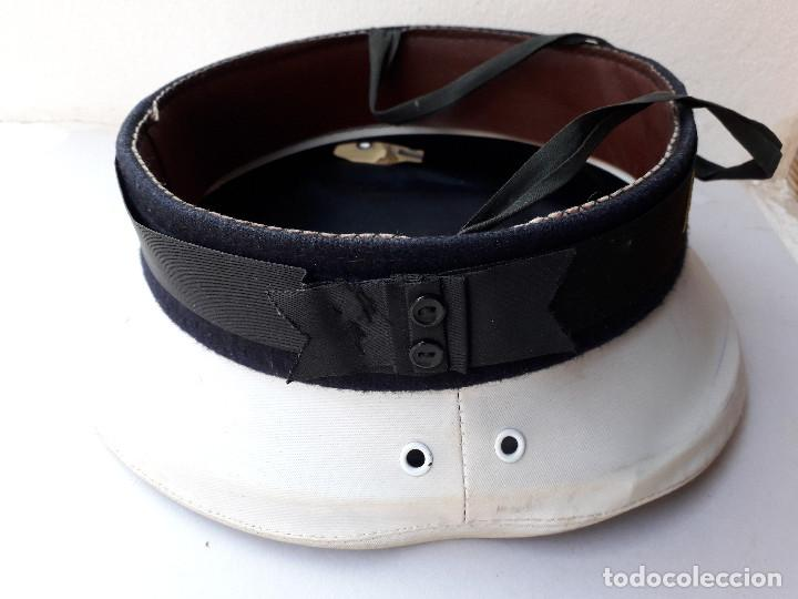 Militaria: gorra de plato naval / marina con cinta lepanto Tagomago - Foto 4 - 194552597