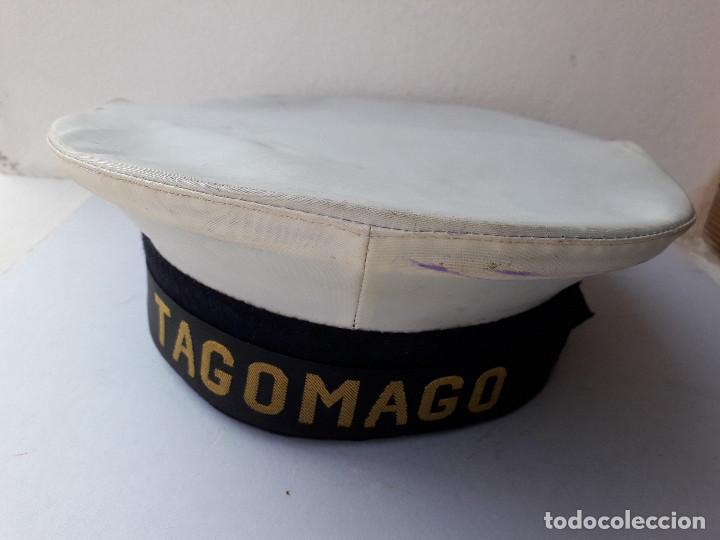 Militaria: gorra de plato naval / marina con cinta lepanto Tagomago - Foto 6 - 194552597