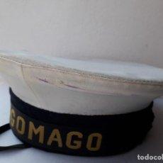 Militaria: GORRA DE PLATO NAVAL / MARINA CON CINTA LEPANTO TAGOMAGO. Lote 194552597