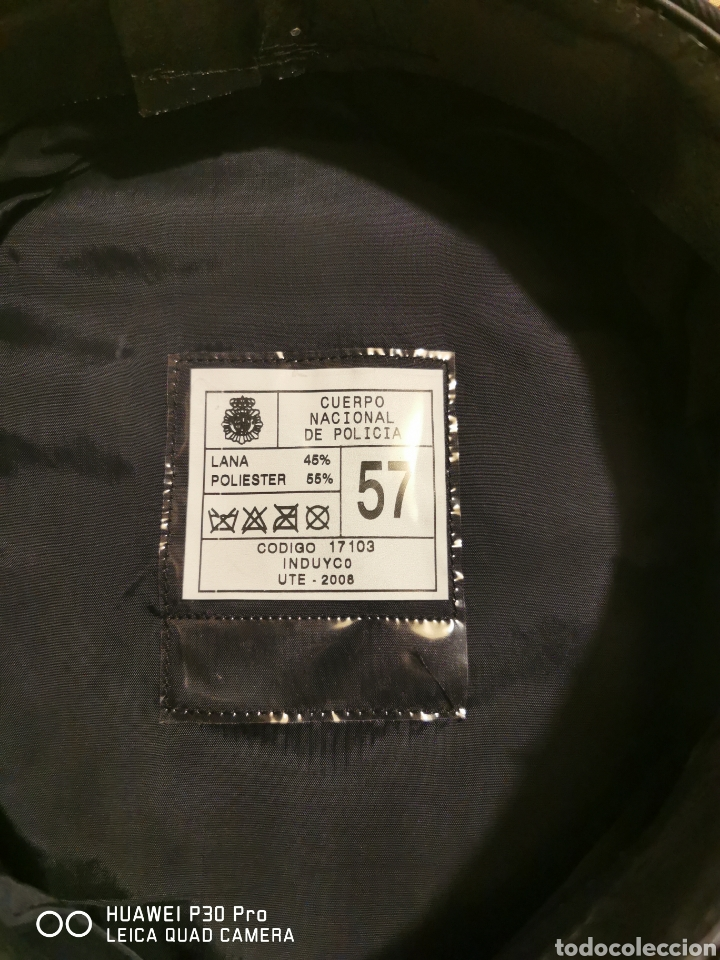 Militaria: gorra de plato Policía Nacional - Foto 3 - 194627810