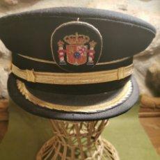 Militaria: GORRA DE PLATO DE MANDO DE LA POLICÍA MUNICIPAL O LOCAL. Lote 194627896