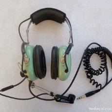 Militaria: AURICULARES CON MICROFONO DE PILOTO DE AVIACION U.S.A - DAVID CLARK MODEL H3330. Lote 194715433