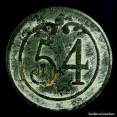 Militaria: BOTÓN MILITAR FRANCÉS, REGIMIENTO 54, GUERRAS NAPOLEÓNICAS - 16 MM.. Lote 194761660