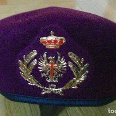 Militaria: BOINA ROJA DE OFICIAL DEL EJERCITO ESPAÑOL , DE ELOSEGUI . TALLA 56. NUEVA. Lote 194870566