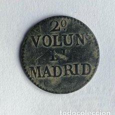 Militaria: BOTON / 2º VOLUNTARIOS DE MADRID / GUERRA DE INDEPENDENCIA / 21 MM. Lote 194931456