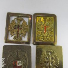 Militaria: LOTE 4 HEBILLAS MILITARES. VER FOTOS. Lote 194944937