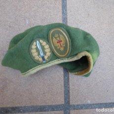 Militaria: BOINA VERDE BOEL. BANDERA OPERACIONES ESPECIALES LEGION. Lote 195058122