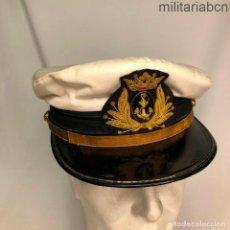Militaria: GORRA DE PLATO DE OFICIAL DE LA ARMADA ESPAÑOLA. ÉPOCA DE FRANCO. MODELO DE VERANO.. Lote 195119477