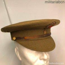 Militaria: GORRA DE PLATO DE ALFÉREZ DEL EJÉRCITO DE TIERRA. REGLAMENTO DE 1943. PRIMER MODELO,VISERA INCLINADA. Lote 195120505