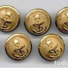 Militaria: 7 SIETE BOTONES MARINA CHILE ANCLA ESTRELLA 23 MM . Lote 195238282