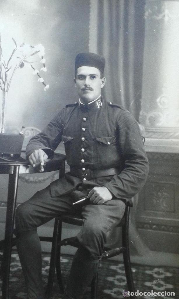 Militaria: ANTIGUO GORRILLO PANADERO DE ALFONSO XIII,INTERIOR FORRO DE CUERO,ORIGINAL,GUERRA AFRICA - Foto 5 - 195366707