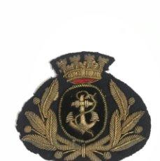 Militaria: FRONTAL BORDADO PARA GORRA MARINA 2 REPUBLICA . Lote 195901273
