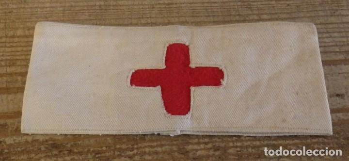 BRAZALETE CRUZ ROJA REPUBLICA GUERRA CIVIL (Militar - Otros relacionados con uniformes )