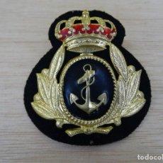 Militaria: GALLETA PARA GORRA DE OFICIAL DE MARINA. Lote 196925501