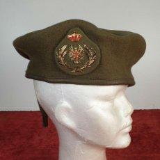 Militaria: BOINA DE LANA. EJERCITO DE TIERRA. INSIGNIA EN METAL DORADO. TALLA 58. CIRCA 1960.. Lote 197413611