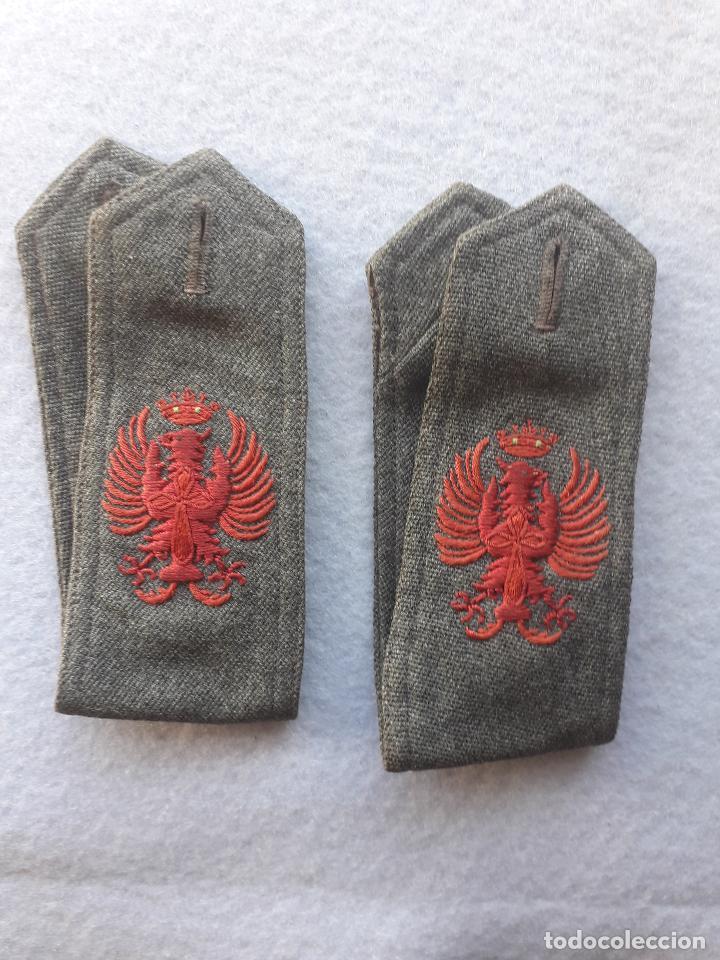 HOMBRERAS ANTIGUAS DEL EJERCITO ESPAÑOL. BORDADAS. (Militar - Otros relacionados con uniformes )