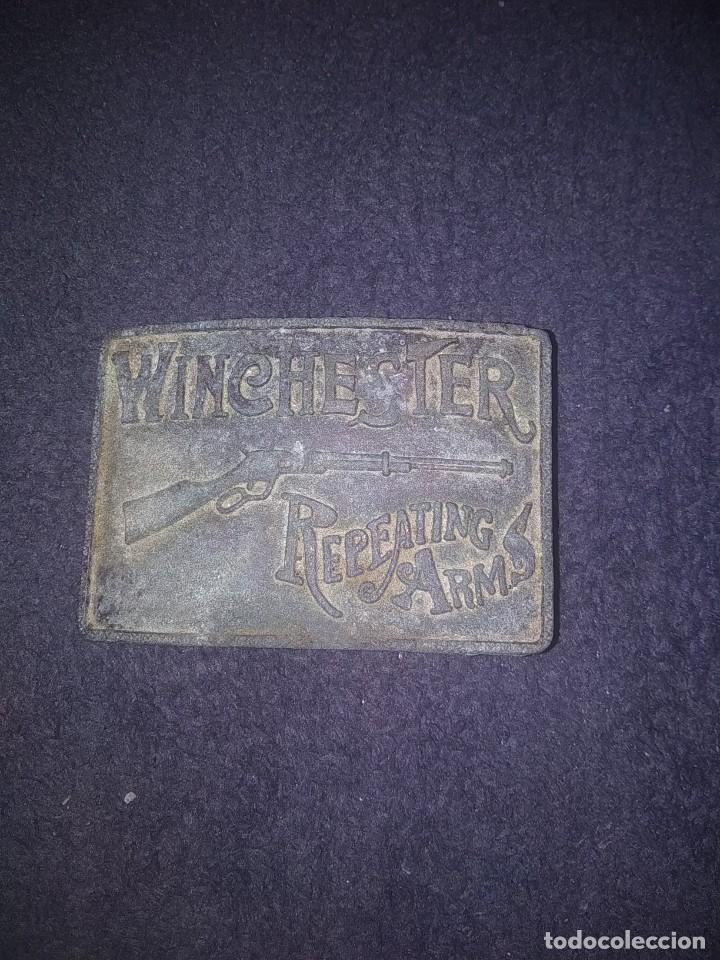 HEBILLA ANTIGUA WINCHESTER (Militar - Cinturones y Hebillas )