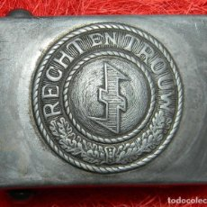 Militaria: REPLICA - HEBILLA / BURCKLE RECHT EN TROUW. Lote 198106722