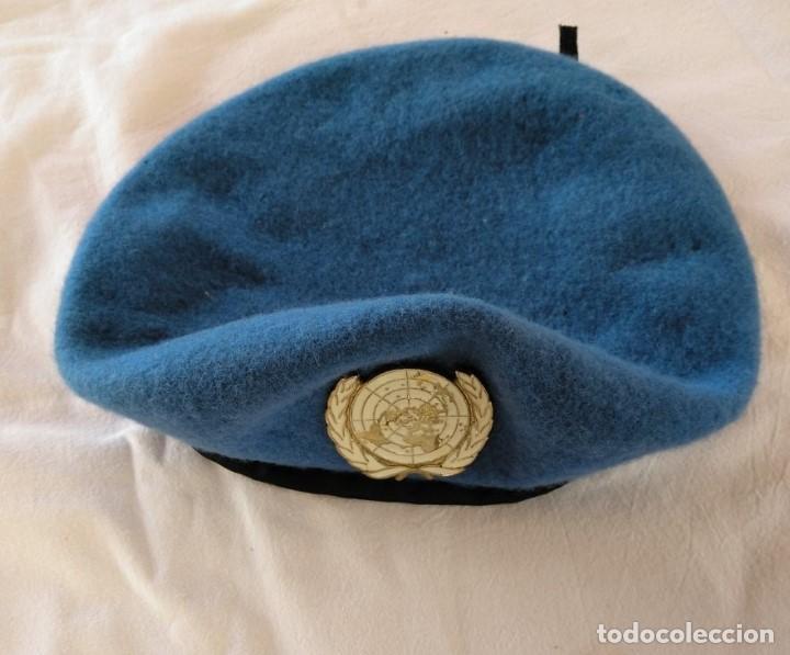 Militaria: BOINA BRITÁNICA, FUERZAS DE LA O.N.U. - Foto 4 - 198304701