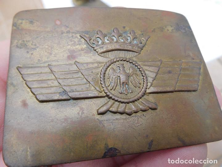 Militaria: Hebilla de cinturón de la aviación española época Franco - Foto 2 - 198409550