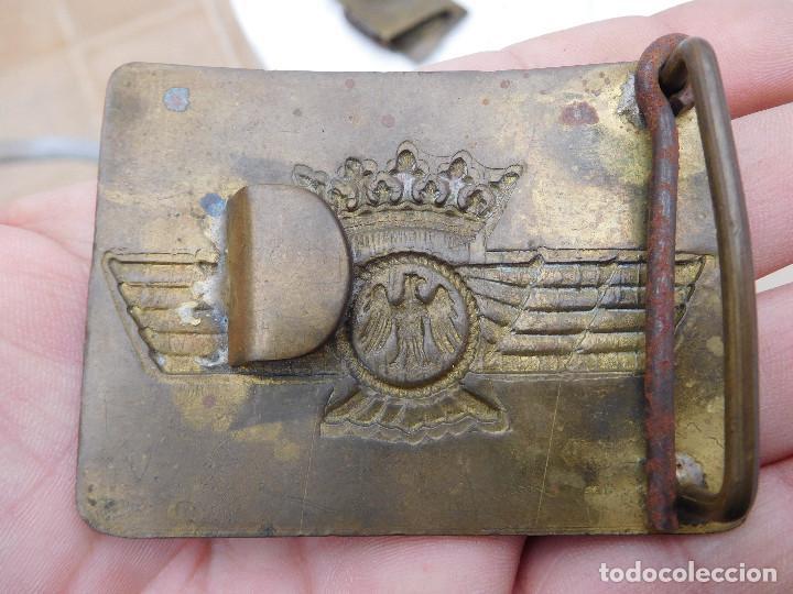 Militaria: Hebilla de cinturón de la aviación española época Franco - Foto 3 - 198409550