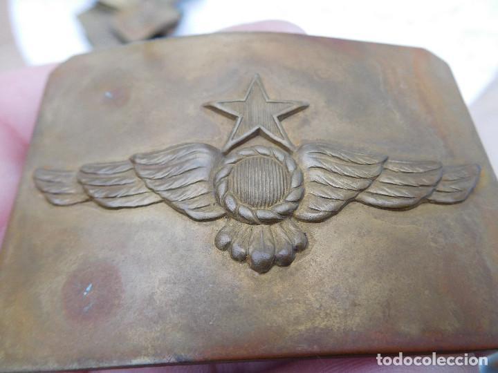 Militaria: Hebilla de cinturón de la aviación española época II República - Foto 2 - 198411357