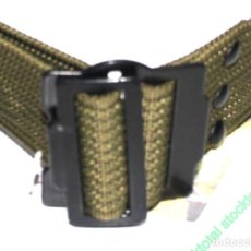 Militaria: CINTURON CEÑIDOR BRIPAC AGUJEROS 130X 5,5 CMS ORIFICIOS METAL -131090. Lote 220927550