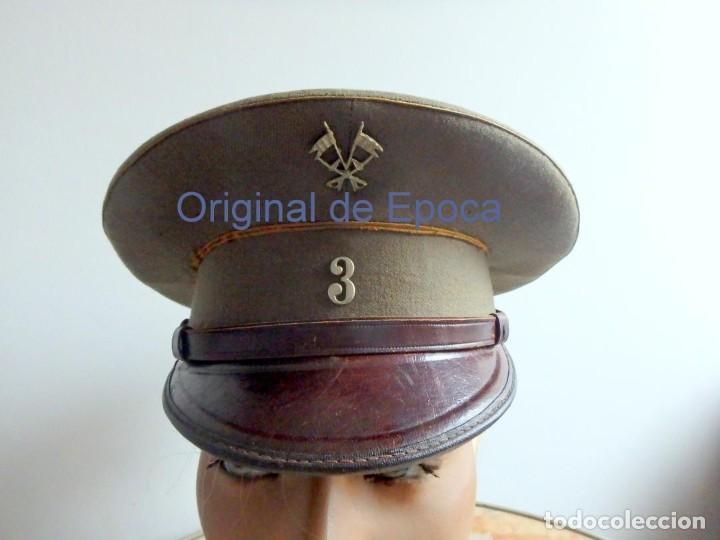 (JG-200400)GORRA DE PLATO , EJERCITO ESPAÑOL , MODELO 1930-31. REG.Nº 3 . (Militar - Boinas y Gorras )