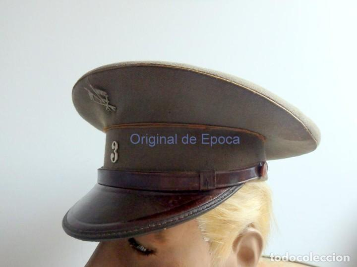 Militaria: (JG-200400)Gorra de plato , Ejercito Español , modelo 1930-31. Reg.nº 3 . - Foto 2 - 198920805