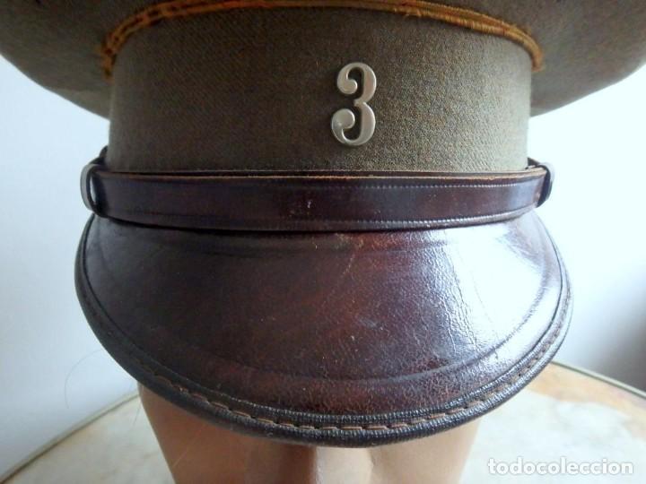 Militaria: (JG-200400)Gorra de plato , Ejercito Español , modelo 1930-31. Reg.nº 3 . - Foto 7 - 198920805