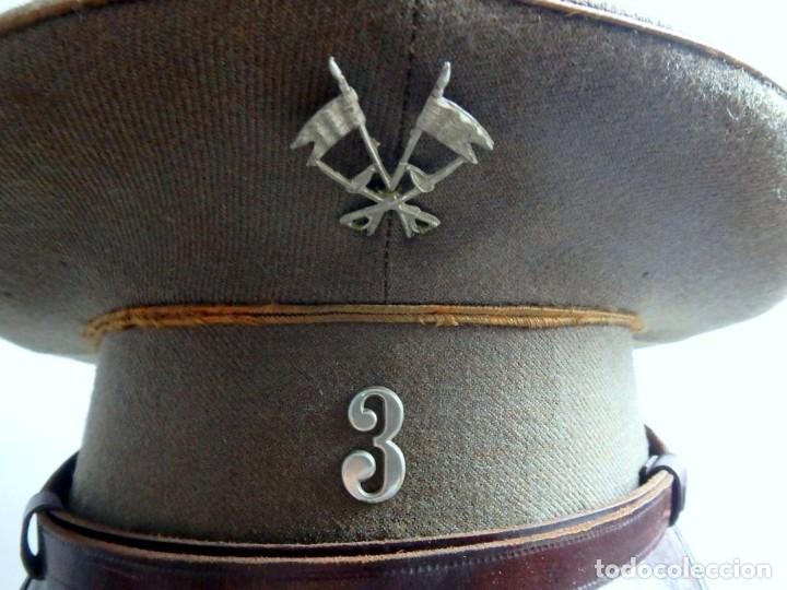 Militaria: (JG-200400)Gorra de plato , Ejercito Español , modelo 1930-31. Reg.nº 3 . - Foto 8 - 198920805