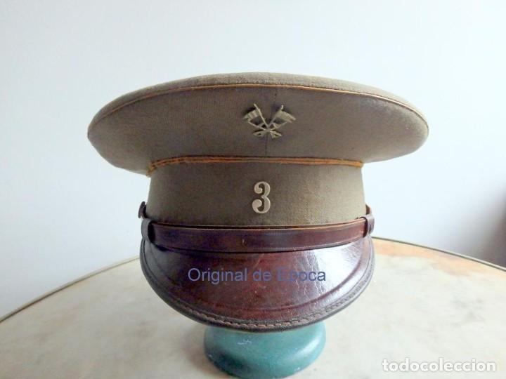 Militaria: (JG-200400)Gorra de plato , Ejercito Español , modelo 1930-31. Reg.nº 3 . - Foto 15 - 198920805