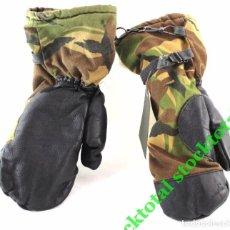 Militaria: MANOPLAS MILITARES MITTEN ORIGINALES EJERCITO DPM CAMO PALMA EN CUERO 615561 MF. Lote 199149053