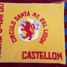 Militaria: MAGNIFICA BANDERA OJE CASTELLON CIRCULO MARIA DE LIDON. Lote 200056168