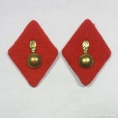Militaria: ROMBOS ARTILLERIA FIELTRO, PAR. Lote 200758811