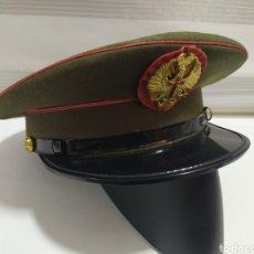 Militaria: ANTIGUA GORRA DE PLATO -ÉPOCA DE FRANCO - AGRUPACIÓN DE TROPAS DEL CUARTEL GENERAL - COMO NUEVA.. Lote 201284307
