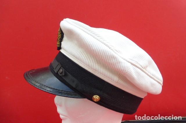 Militaria: Gorra oficial Marina Mercante alemana, similar a oficiales Kriegsmarine.años 40.50- Kiel- Alemania - Foto 2 - 205024253
