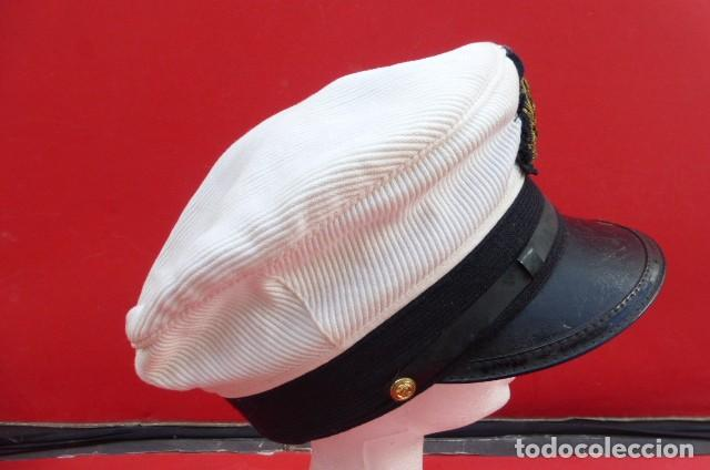 Militaria: Gorra oficial Marina Mercante alemana, similar a oficiales Kriegsmarine.años 40.50- Kiel- Alemania - Foto 4 - 205024253