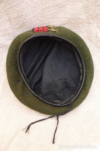 Militaria: Boina verde,,,cabo rojo especilista..Infanteria de Marina española...muy usada..personalizada... - Foto 2 - 205025216
