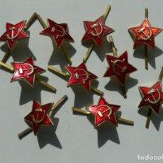 Militaria: URSS LOTE DE ESTRELLAS ROJAS PARA GORRO MILITAR. Lote 205073582