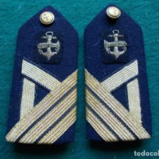 Militaria: HOMBRERAS PALAS MARINA ARMADA BORDADOS SARGENTO PRIMERO. Lote 205103025