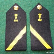 Militaria: HOMBRERAS PALAS MARINA ARMADA CABO PRIMERO INFANTERÍA MARINA. Lote 205103275