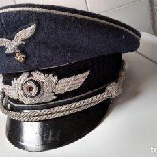 Militaria: ALEMANIA 2ª GUERRA, GORRA DE OFICIAL DE LUFTWAFFE. Lote 205130417