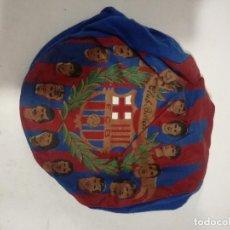Militaria: FC BARCELONA VINTAGE GORRA CAP FOOTBALL BUFANDA SCARF FUTBOL FOOTBALL. Lote 205355147