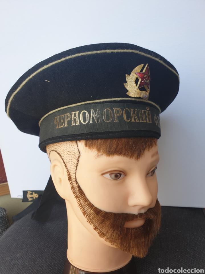 GORRA MARINE RUSO-SOVIETICO. (Militar - Boinas y Gorras )