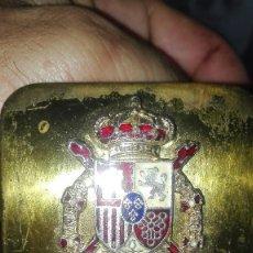 Militaria: CINTURON GUARDIA REAL. ESCUDO DON JUAN CARLOS I.. Lote 205643981